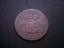 1858 NETHERLANDS EAST INDIES (INDONESIA) 2-1/2 CENT COIN. SCARCE