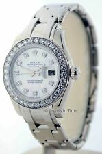 Rolex Ladies Pearlmaster Watch 18K Gold and Diamonds Box/Papers 80299