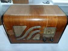 1939 Philco Wood Tube Radio 'Model 39-6520' Canadian Variant Battery 'Farm Set'