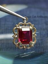 Pretty Vintage Sterling Silver & Red Crystal Birthstone Charm January