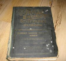 Grosser Atlas der Eisenbahnen und Schiffahrt von Europa Deutsches Reich 1930 RAR