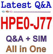 HP Best Practice Material For HPE0-J77 Exam Q&A PDF+SIM