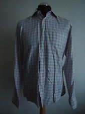 Hugo boss carreaux unique revers ls shirt, taille uk 15.5
