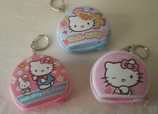 Hello Kitty 3 Mini Clip-on Coin Change Purse Zip Close Tin Metal Collectible Box