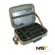 New NGT Green Tackle Box System Case Bag Carp Coarse Fishing  Travel Bag 611