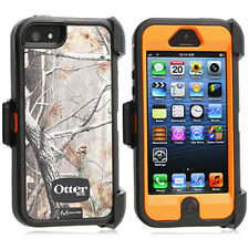 OtterBox Defender Realtree Case & Holster for iPhone 5 AP Blazed Tree Orange OEM