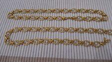 Collana donna 3 vie in colore oro con Dettaglio Perle