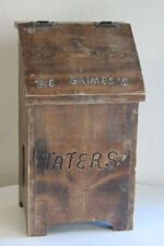 Vintage Hand Made Solid Wood Potato Taters Onions Hinged Storage box