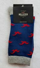 1 Hollister California by Abercrombie RED SEAGULL Navy Crew Socks Men Casual