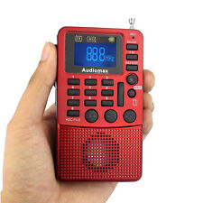 Pocket FM Radio Receiver MP3 Player REC Recorder AUX Audio Input Sleep timer as