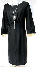 sz L / 14 BOO RADLEY 'Champagne Anyone' charcoal funky wool blend Dress NWT $179