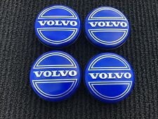 NEW 4PC SET OF 4 VOLVO BLUE CENTER WHEEL HUB CAPS COVER LOGO RIMS 3546923