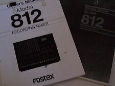 Fostex Model 812 Recording Mixer  PDF Owners Manual and Service Manual