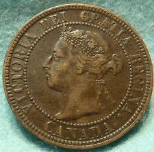 1901 VF-XF Grade CANADA LARGE CENT Victoria COIN No Res CANADIAN