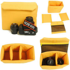 Waterproof DSLR Camera Bag Partition Padded Insert Case Cover Pouch WIth Clip N