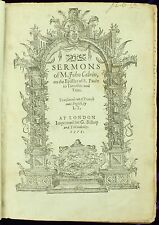 Calvin Sermons on Epistles of S. Paule to Timothie & Titus 1579 Bible 1ST ED NR