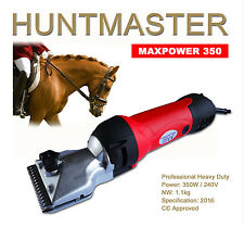 NEW HUNTMASTER 350WATT HORSE CLIPPERS,EXTRA HEAVY DUTY INC COMB ATTACHMENTS