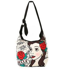 Loungefly Disney BEAUTY AND THE BEAST BELLE TATTOO HOBO BAG Handbag Tote NEW