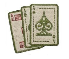 """Sand 5.11 Tactical """"Ace in Hand"""" Embroidered Hook & Loop Morale Patch"""