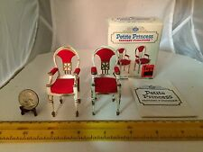 1/16 SCALE SET OF 2 HOST DINING ARM CHAIRS 4413-1 150 IDEAL PETITE PRINCESS NOS