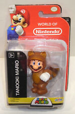 World of Nintendo TANOOKI MARIO Action Figure SEALED Jakks Pacific 2.5 Inch 2-2