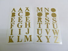 "16mm (0.63"") Gold Sticky Letters, Self-Adhesive Alphabet A-Z Stickers 59127"