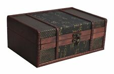 Decorative Box Chinese Style Small Vintage Storage Treasure Wooden Gift Decor