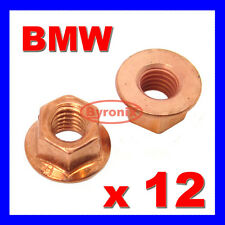 BMW E30 E21 EXHAUST MANIFOLD PIPE HEAD STUD NUT M8 NUTS HEX FLANGE COPPER
