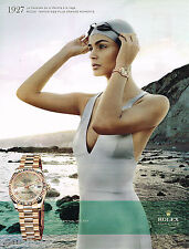 PUBLICITE ADVERTISING 065  2010  ROLEX  montre OYSTER PERPETUAL LADY DATEJUST