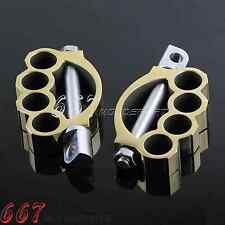 Custom Foot Pedal Motorcycle Footpeg CNC Foot Rest For Harley Davidson Brass