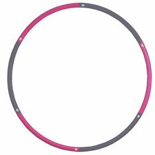 Fitness Mad Aerobic Studio Weighted 1.1Kg Standard Hula Hoop Pink & Grey