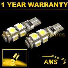 2X W5W T10 501 CANBUS ERROR FREE AMBER 9 LED SIDELIGHT SIDE LIGHT BULBS SL101703