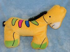 Northpoint Kids Plush Yellow Zebra Horse Micro Bead Pillow