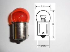 ORANGE AMBER INDICATOR BULBS 4 PACK 12V 21W 23W BA15s BULB FOR CLEAR SMOKE LENS