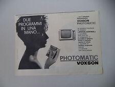 advertising Pubblicità 1961 TELEVISORE VOXSON PHOTOMATIC
