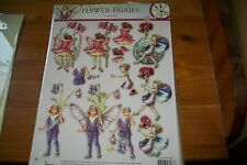 1 SHEET 3D DIE CUT NO SCISSORS NEED FLOWER FAIRIES (B)  NEW