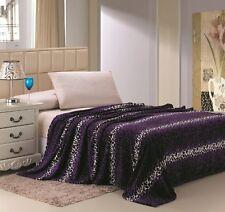 Leopard Animal Blanket Super Soft Throw Bedding Fleece Queen Multiple Colors