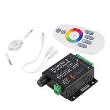 Sound Audio LED RGB RF Music Controller Touch Remote 2 Channel 12/24V 18A E0