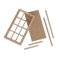 Miniature Wooden 12-Pane Window Frame for Dolls House Accessory 1:12 Scale New