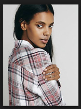 RAILS by Free People Draped in Plaid Hunter Button Down Shirt (M) Pink $128
