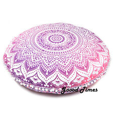Pink Ombre Decorative Floor Pillow Cushion Cover Mandala - 32""