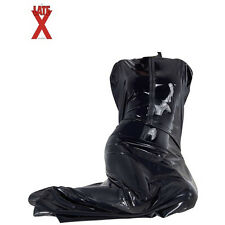 Latex Sauna Bag with Zip up front - 100% Latex black - sleepsack - Bodybag
