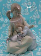 Lladro # 1534 ~ LITTLE SISTER ~ Girls W/Cat  *** MINT ***   BUY 1 GET 1 50% OFF