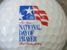 (1) NATIONAL DAY OF PRAYER CHURCH RELIGION LOGO GOLF BALL