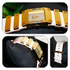 Stunning Dolce & Gabbana DW0349 white & gold alluring wrist watch! (Must see)