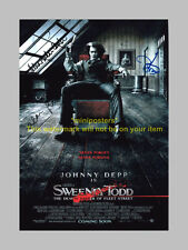 "SWEENEY TODD PP SIGNED POSTER 12""X8"" JOHNNY DEPP N2"
