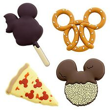 Mickey Mouse Food Magnets Refrigerator Set of 4 Disney World Theme Parks NEW