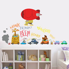 Zootopia Giraffe Car Airship Removable Wall Sticker Decals Baby Kids Decor Mural