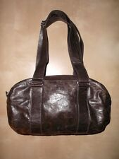 EUC Rare m0851 Leather Handbag Dark Brown Fully-Lined Purse Made in Canada