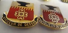 MILITARY INSIGNIA CREST DUI SET OF 2 703RD MAINTENANCE BN #3 VIGUEUR DE DESSUS